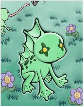 Roda Frog Card